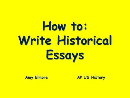 How to write a dbq essay for us history